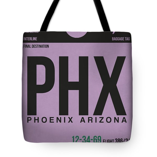 Phoenix Airport Poster 1 Tote Bag by Naxart Studio