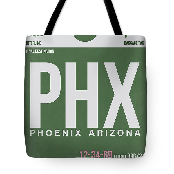 Phoenix Airport Poster 2 Tote Bag by Naxart Studio