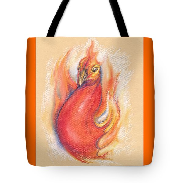 Phoenix In The Flames Tote Bag