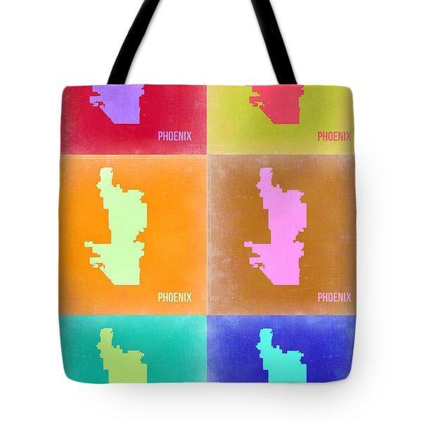 Phoenix Pop Art Map 3 Tote Bag