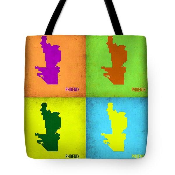 Phoenix Pop Art Map Tote Bag