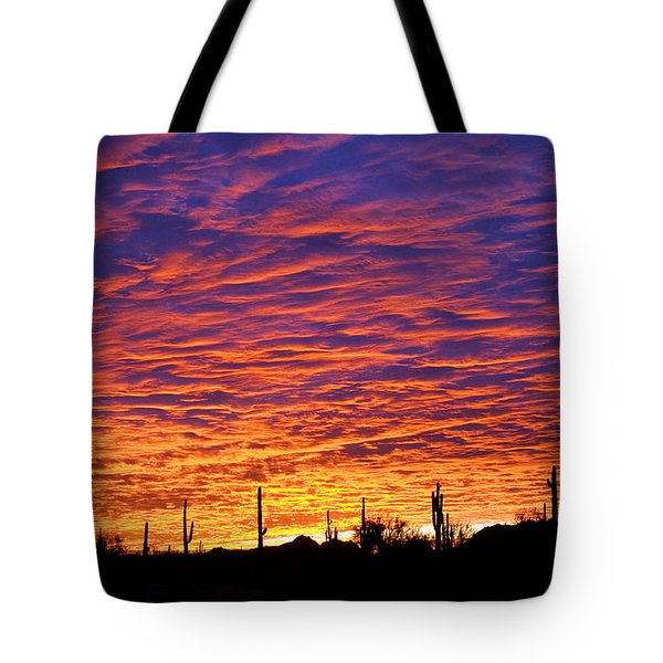 Tote Bag featuring the photograph Phoenix Sunrise by Jill Reger