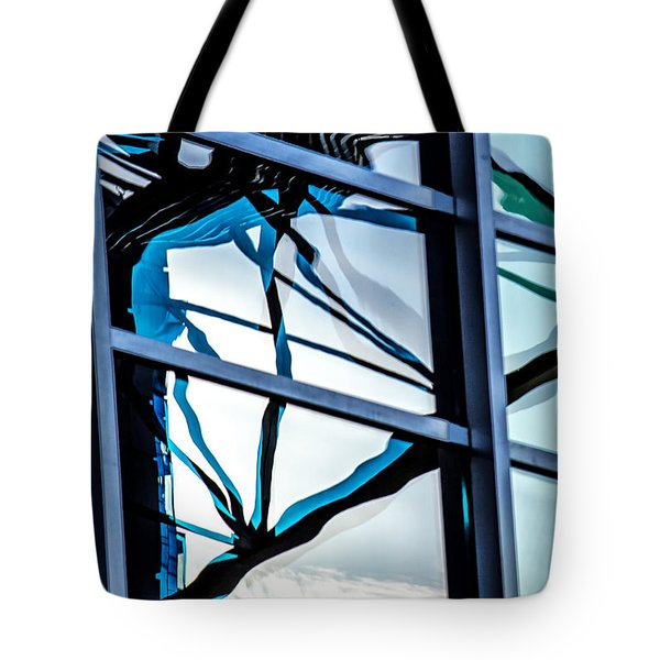Phoenix Window Reflecting Grids Tote Bag