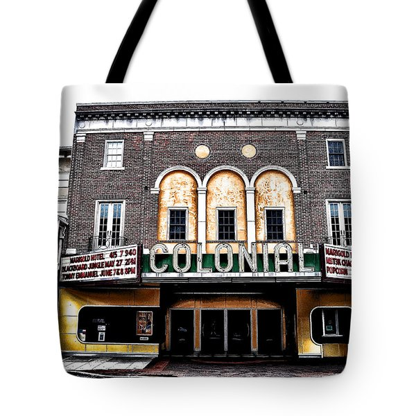 Phoenixville's Colonial Theater Tote Bag by Bill Cannon