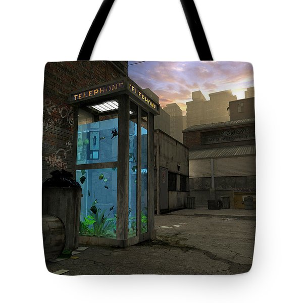 Phone Booth Tote Bag by Cynthia Decker