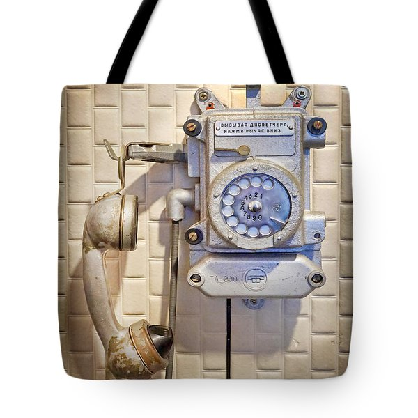 Phone Kgb Surveillance Room Tote Bag by Martin Konopacki