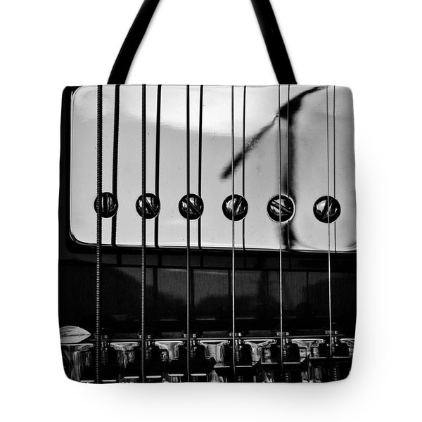 Phone Pole Reflection Tote Bag