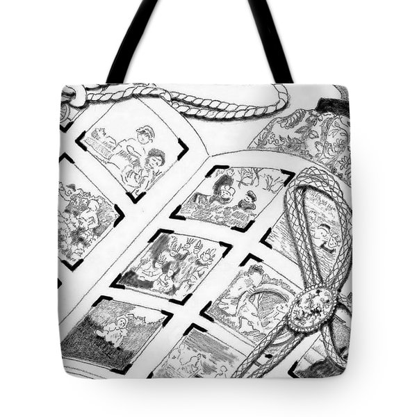 Tote Bag featuring the digital art Photo Album by Carol Jacobs