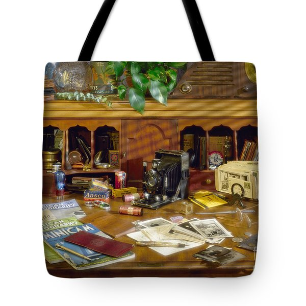 Photographers Desk 1939 Tote Bag