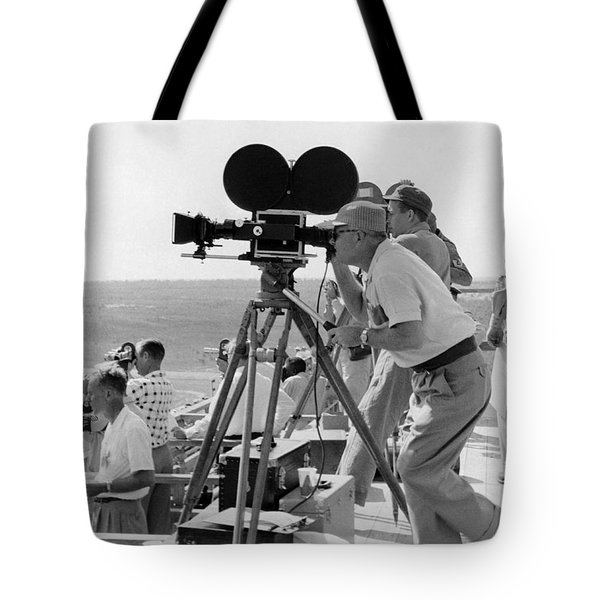 Photographers Filming An Event Tote Bag