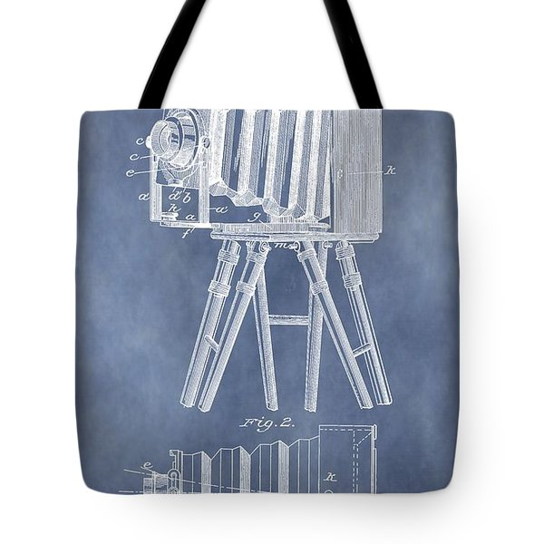Photographic Camera Patent Tote Bag