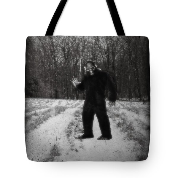 Photographic Evidence Of Big Foot Tote Bag by Edward Fielding