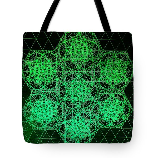 Tote Bag featuring the drawing Photon Interference Fractal by Jason Padgett