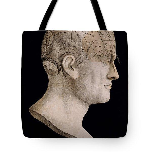 Phrenology Tote Bag by Georgia Fowler