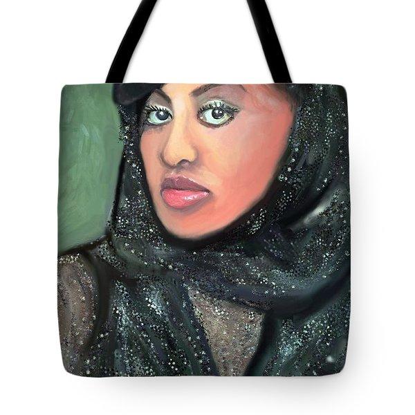 Tote Bag featuring the digital art Phyllis Hyman by Vannetta Ferguson