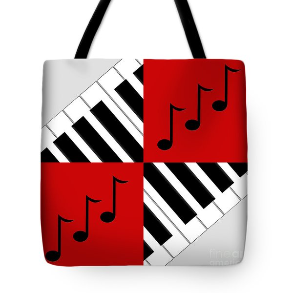 Piano Abstract 3 Tote Bag by Andee Design