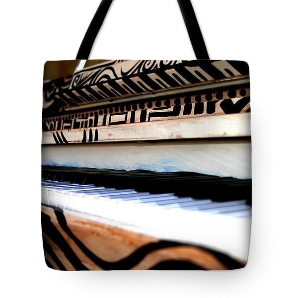 Piano In The Dark - Music By Diana Sainz Tote Bag