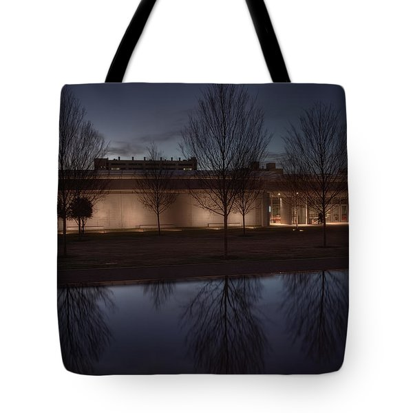 Piano Pavilion Night Reflections Tote Bag by Joan Carroll