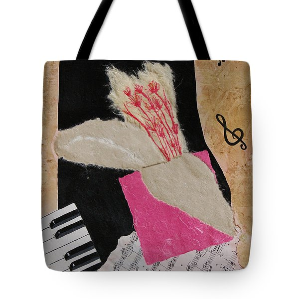 Tote Bag featuring the painting Piano Still Life by Mini Arora