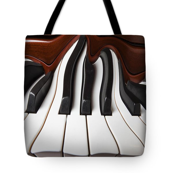 Piano Wave Tote Bag by Garry Gay
