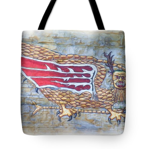 Tote Bag featuring the photograph Piasa Bird In Oils by Kelly Awad