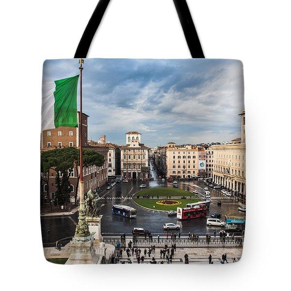 Piazza Venezia Tote Bag