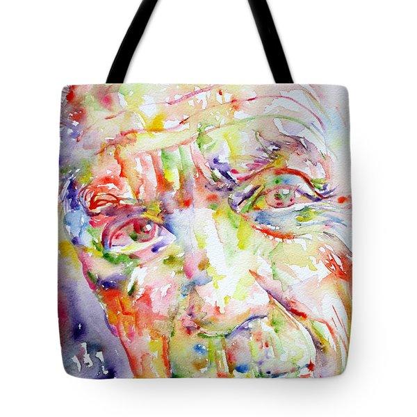 Picasso Pablo Watercolor Portrait.2 Tote Bag by Fabrizio Cassetta
