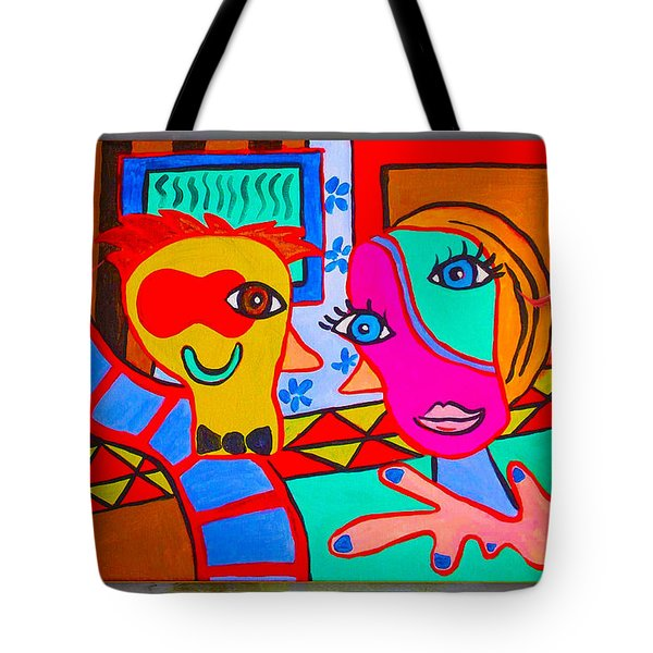 Picasso Painting Tote Bag by Marvin Blaine