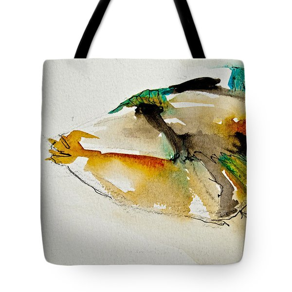 Tote Bag featuring the painting Picasso Trigger by Jani Freimann