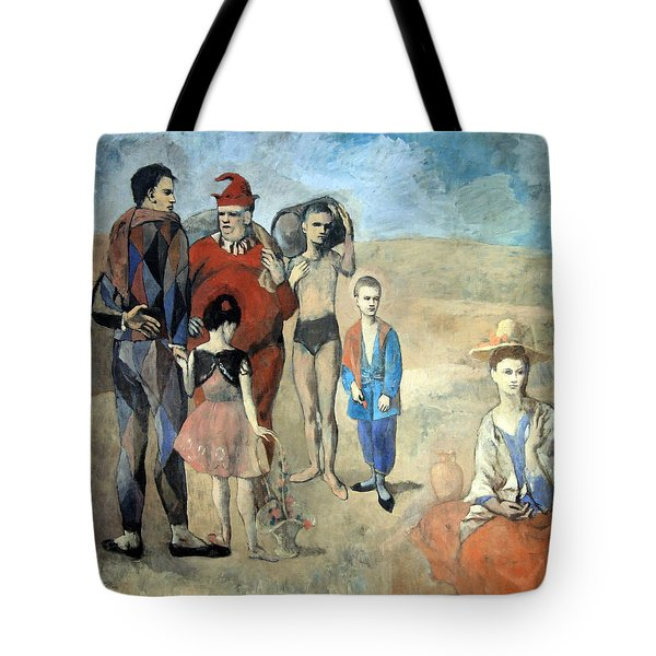 Picasso's Family Of Saltimbanques Tote Bag by Cora Wandel
