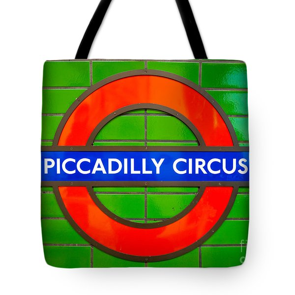 Tote Bag featuring the photograph Piccadilly Circus Tube Station by Luciano Mortula