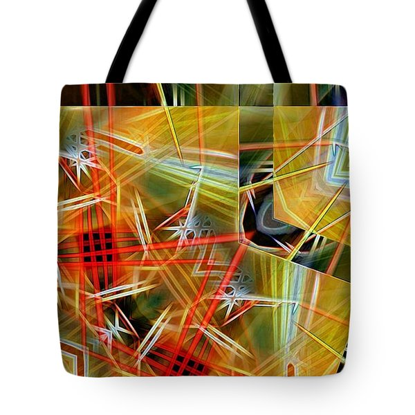 Pick Up Sticks In Geometry Tote Bag