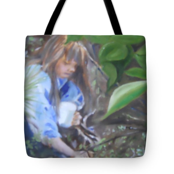 Picking Blueberries Tote Bag by Joyce Reid