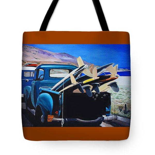 Pickup Truck Tote Bag by Chikako Hashimoto Lichnowsky