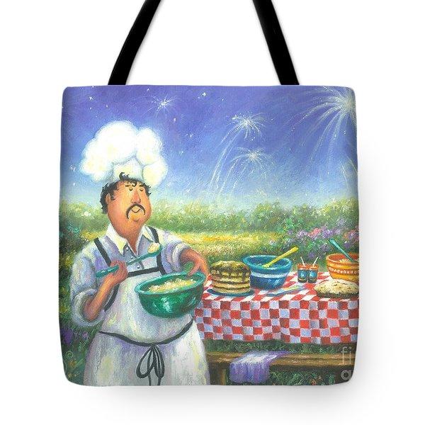 Picnic Chef Tote Bag by Vickie Wade