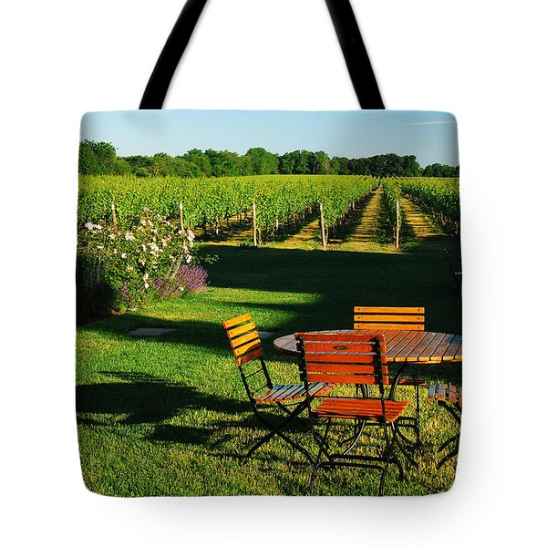 Picnic In The Vineyard Tote Bag