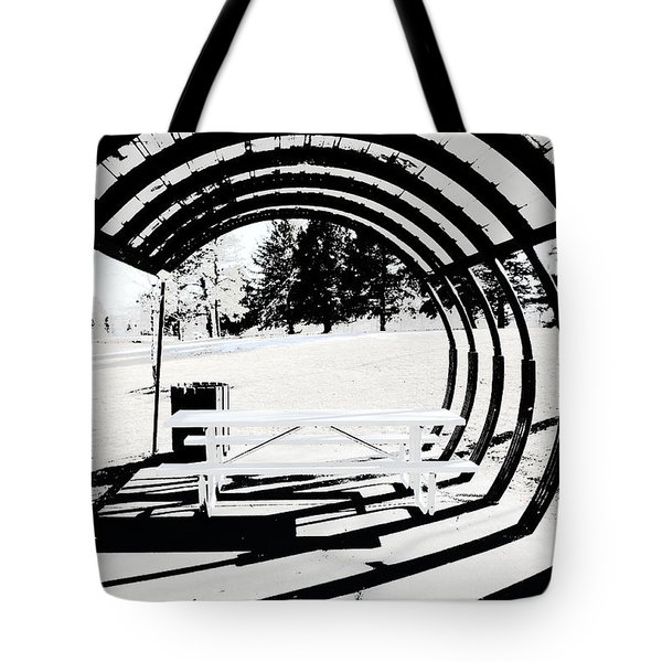 Picnic Table And Gazebo Tote Bag
