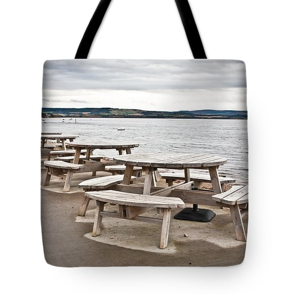 Picnic Tables Tote Bag by Tom Gowanlock
