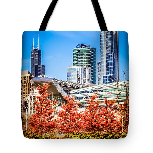 Picture Of Chicago In Autumn Tote Bag by Paul Velgos
