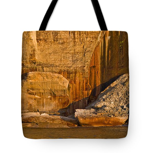 Pictured Rocks Near A Lake, Pictured Tote Bag