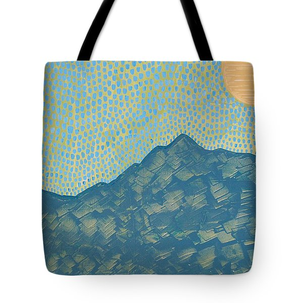 Picuris Mountains Original Painting Tote Bag by Sol Luckman