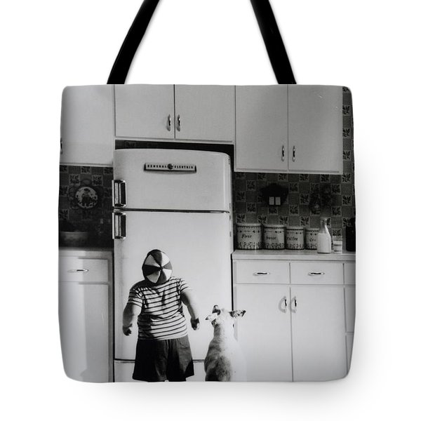 Pie In The Sky In Black And White Tote Bag