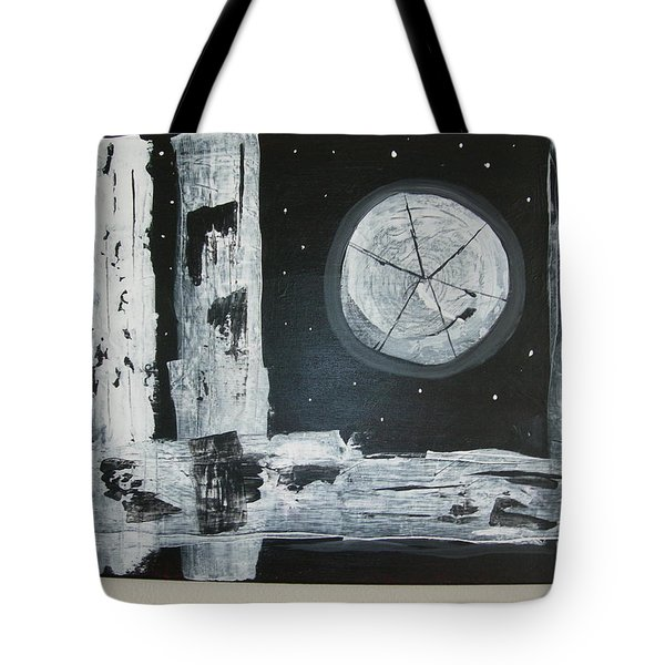 Tote Bag featuring the painting Pie In The Sky by Sharyn Winters