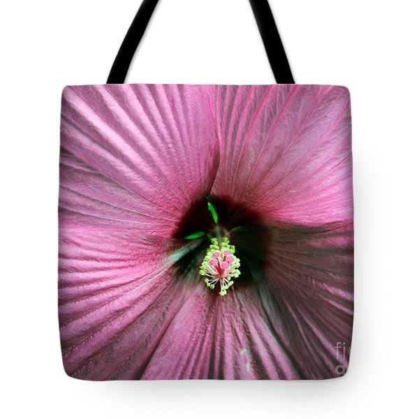 Pie Plate Hibiscus Tote Bag
