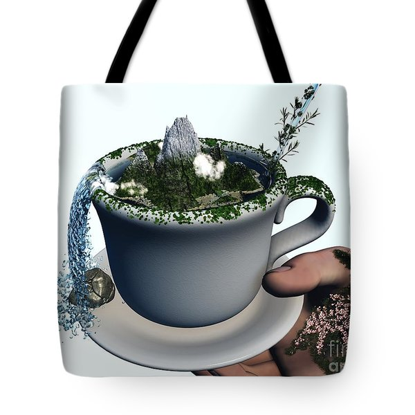 Piece Of Nature Cup Tote Bag by Eric Nagel