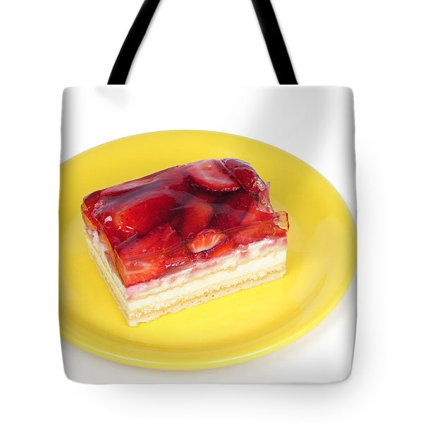 Piece Of Strawberry Cake Tote Bag by Matthias Hauser