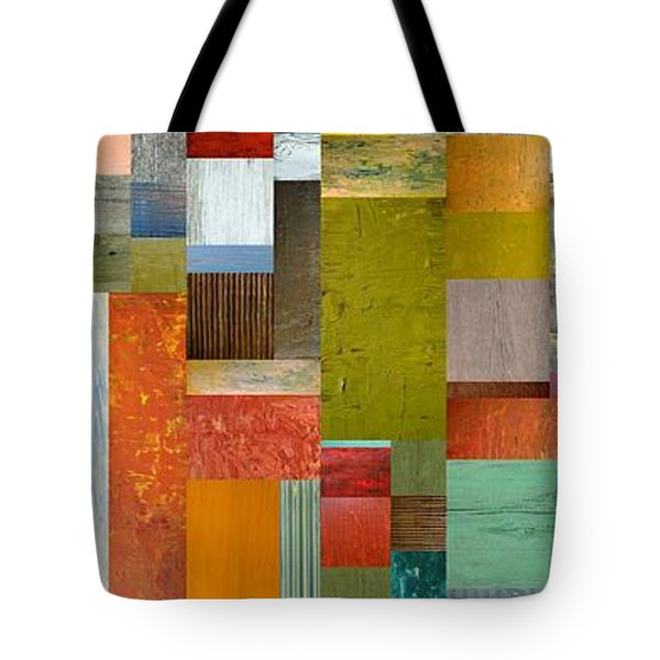 Pieces Parts Lll Tote Bag by Michelle Calkins