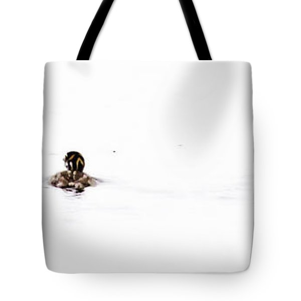 Pied-billed Grebe Babies Tote Bag
