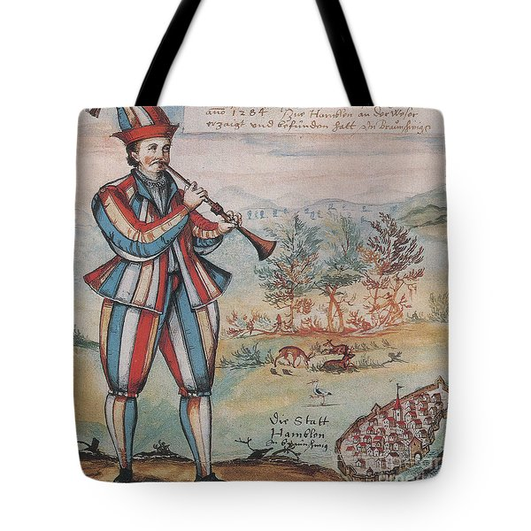 Pied Piper Of Hamelin, German Legend Tote Bag by Photo Researchers