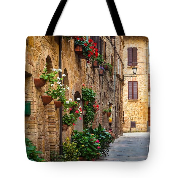 Pienza Street Tote Bag